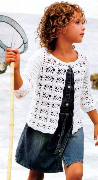 вязание крючком кофточки для девочек, и схема вязания крючком свитера, вязание крючком. кофточки крючком для девочек.
