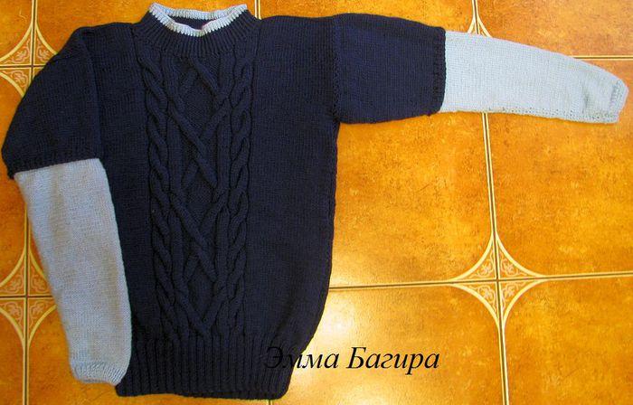 Вяжем свитер на спицах для мальчика 2 лет