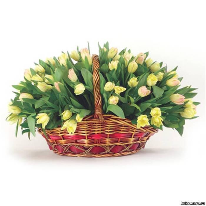 Картинки корзины с цветами и