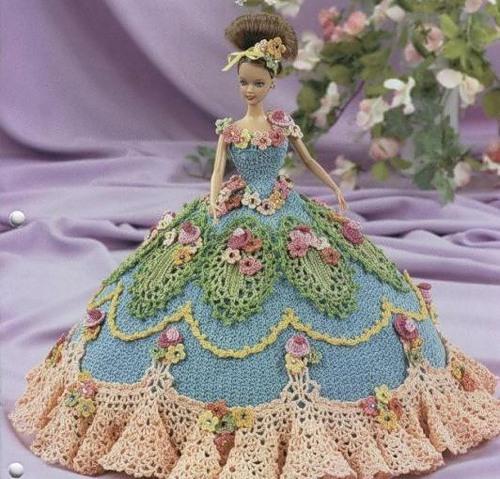 схема вязания зеленого платья