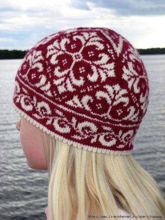 Норвежский узор схема шапка