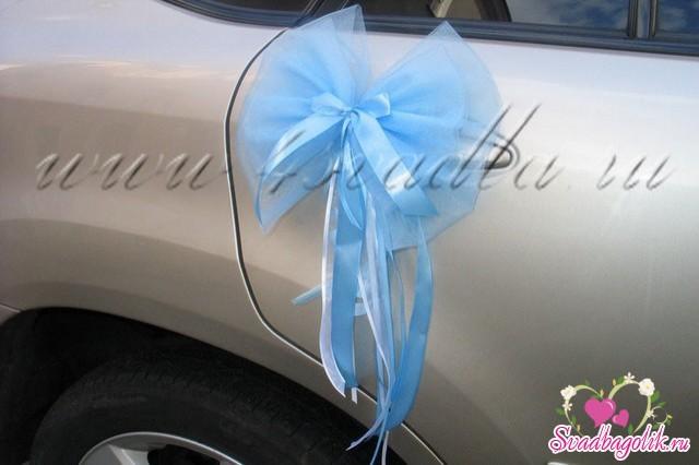 Как сшить бант на машину свадебную 91