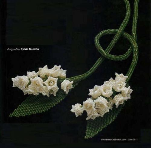 В программе - плетение цветочков из бисера и бусин. покажу ландыши. и тюльпаны.