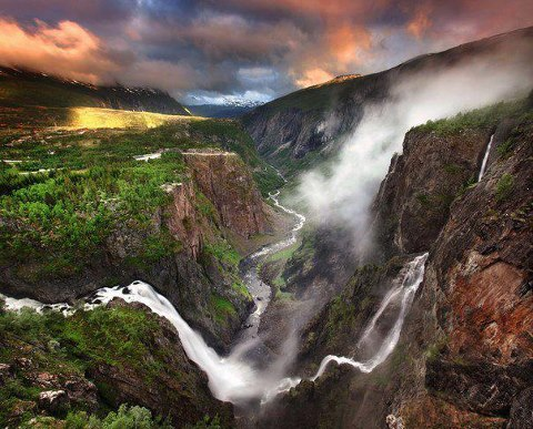Водопад Вёрингсфоссен, Норвегия (480x387, 62Kb)