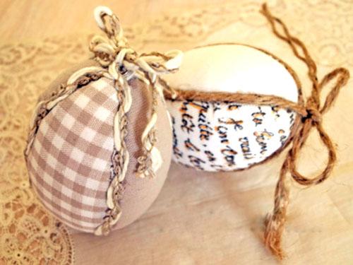 Как сделать декоративные пасхальные яйца (не настоящие:).  Оффлайн. flower.  Пасхальные яйца из пенопластовых...