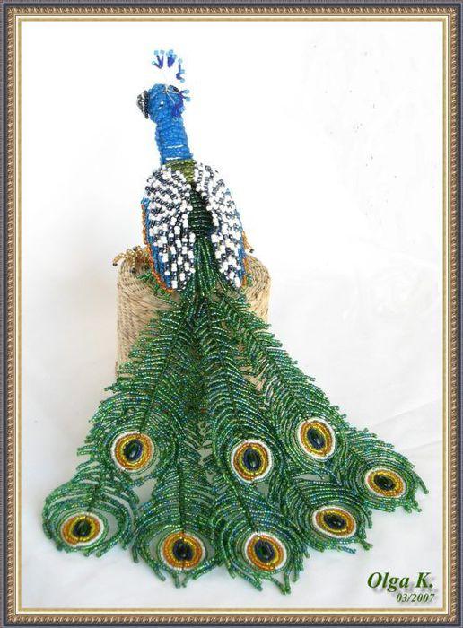 Схемы плетения павлина из бисера с фото