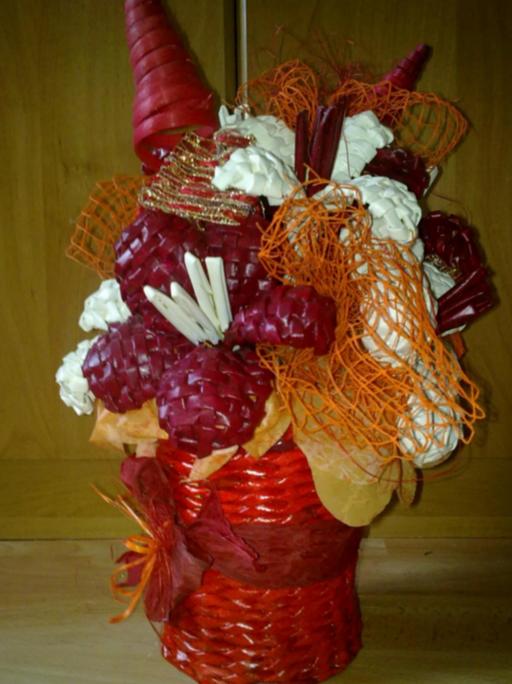 плетение из газет цветы (12) (512x684, 786Kb)