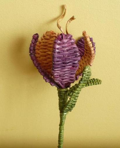 плетение из газет цветы (14) (411x505, 277Kb)