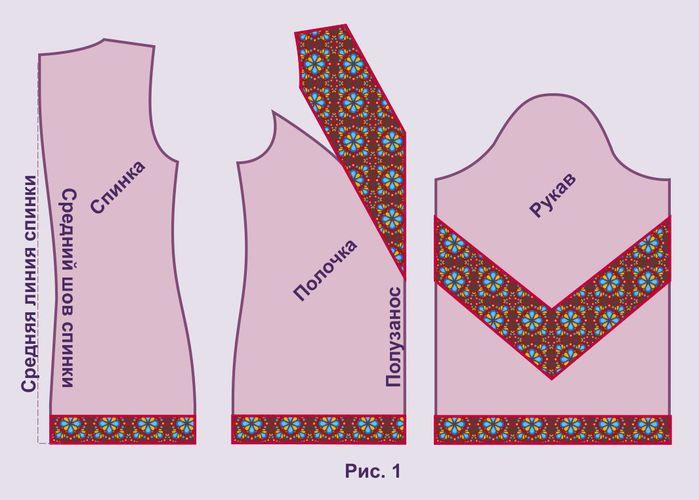 Украинская вышиванка - схемы.