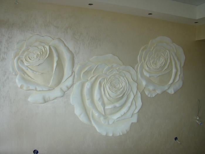 обои розы панно