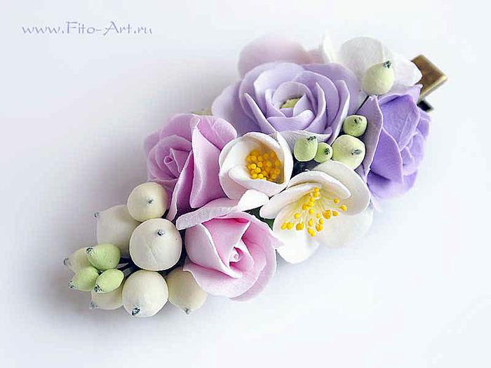 Заколки из цветов своими руками