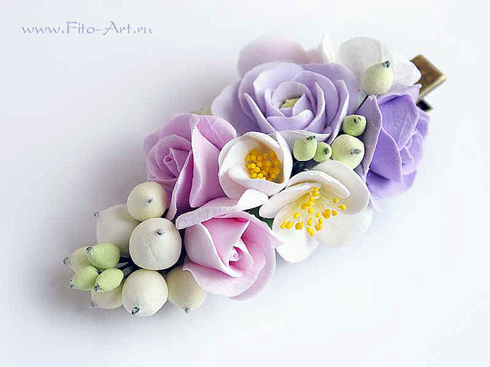 Цветочки для заколок