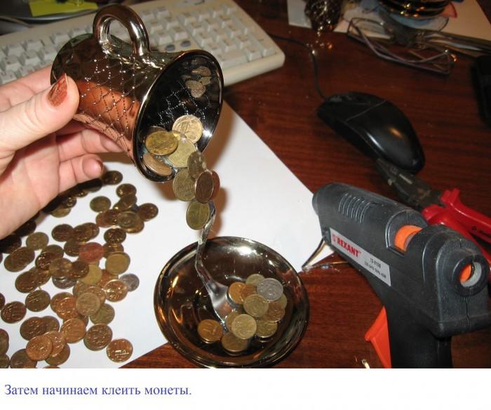 Как сделать из монеты поделки