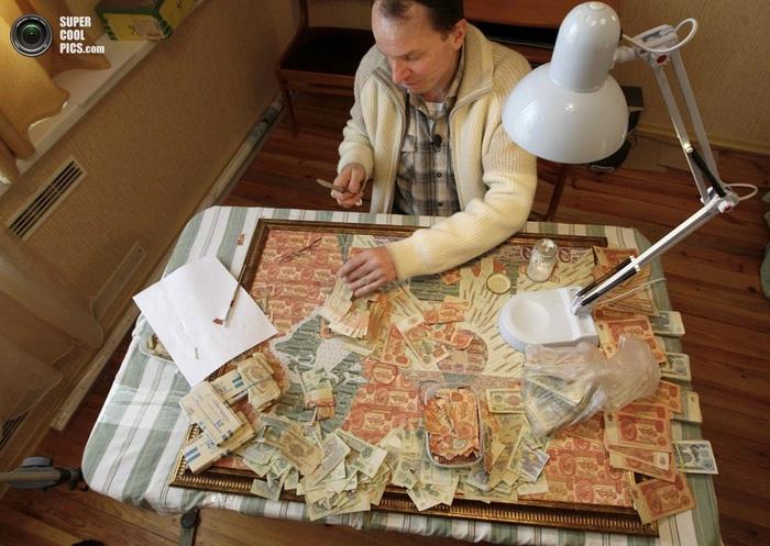 картины из советских денег фото 2 (700x497, 137Kb)