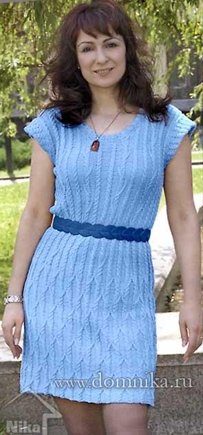 вязаные платья спицами для