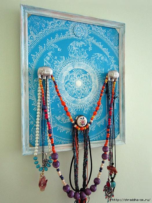 Вешалка для украшений СЛОНЫ, автор Shraddha, 1 (525x700, 359Kb)