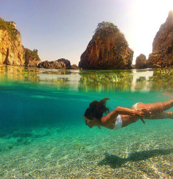 Голубая лагуна, Остров Керкира, Греция (554x573, 66Kb)
