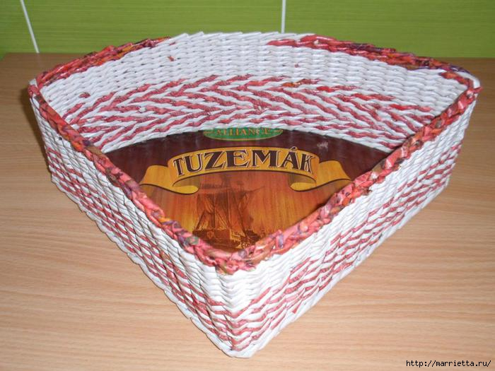 угловая корзинка из газет (6) (700x525, 183Kb)