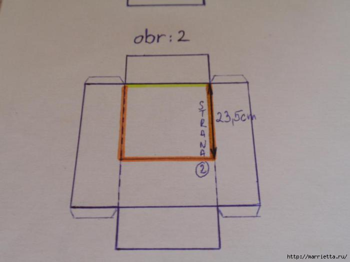 угловая корзинка из газет (13) (700x525, 66Kb)