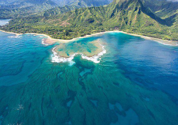 Туннель-Бич на острове Кауаи, Гавайские острова (604x427, 55Kb)
