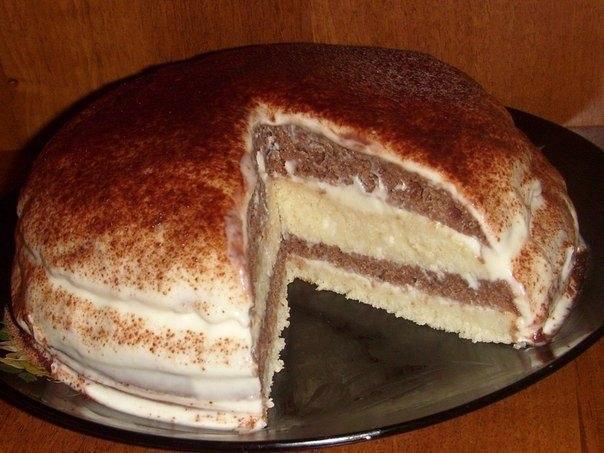 кефирный тортик рецепт с фото