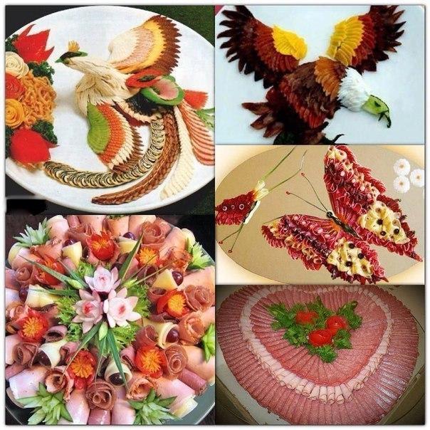Оформление блюд праздничного стола своими руками 292
