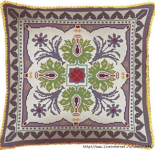 Подушка-мандала вышивка