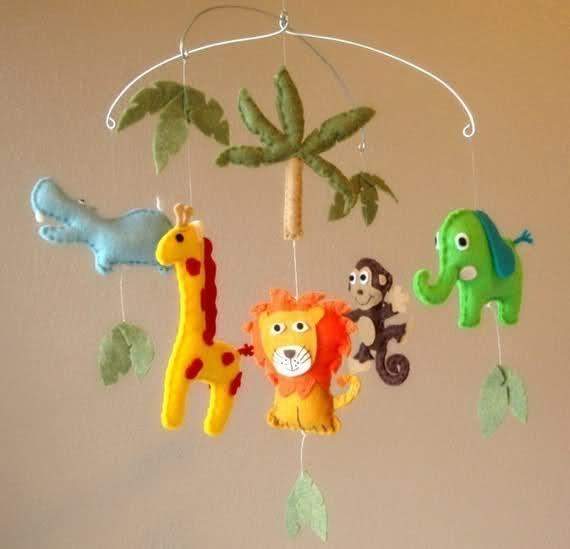 Детские подвесные игрушки своими руками