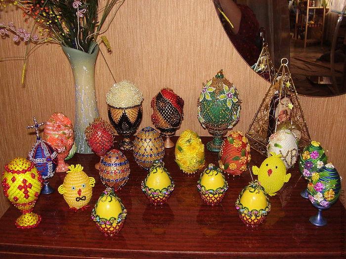 Яйца из бисера своими руками - подарок на Пасху (Фото 3) .