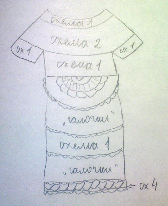 Схема платья (570x700, 315Kb)