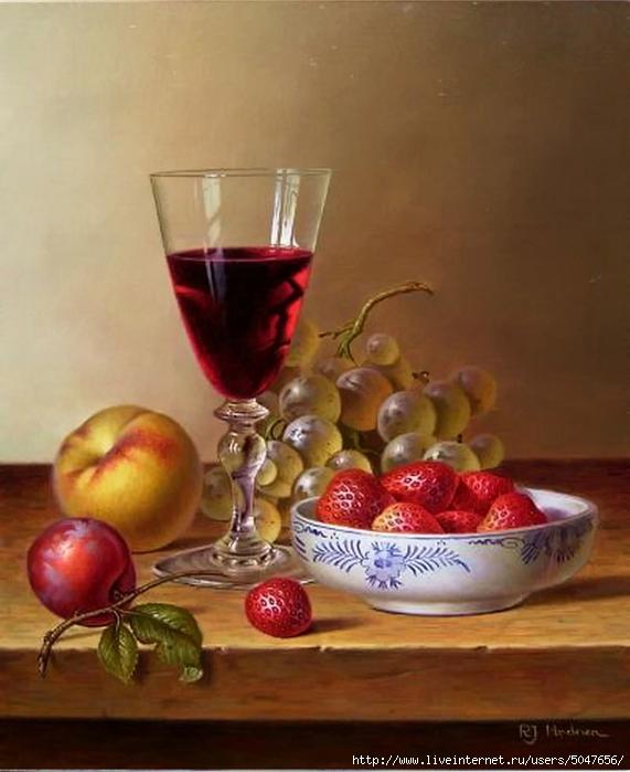 Roy Hodrien_картики для декупажа_натюрморты_фрукты_вино_05 (571x700, 226Kb)