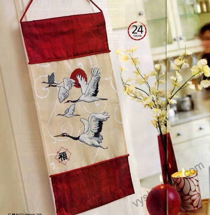 вышивка крестом в японском