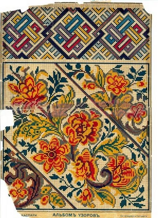 Галерея схем вышивки крестом