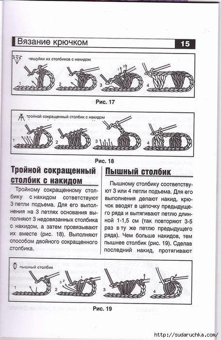 вязание платков крючком схемы и описания