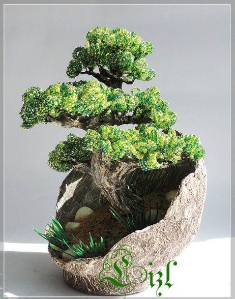 Подставка из папье-маше для бонсая. www.biser.info/node/314112.  Источник-http.