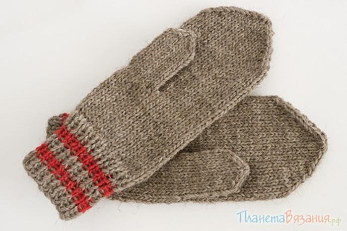 Вязание варежек спицами схемы.