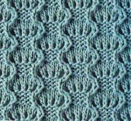 Вязание для дома - вязание крючком на. схема вязания на спицах узор волны. узор волны.