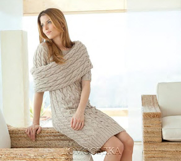 Вязаное платье и съемный