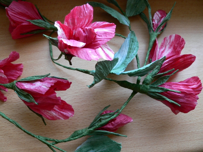 цветы и корзиночки из бумажного шпагата (10) (699x526, 937Kb)