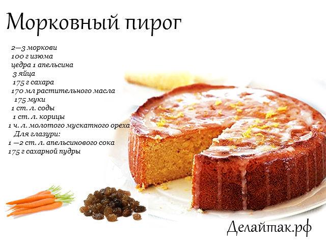Морковный пирог рецепт пошаговый рецепт с