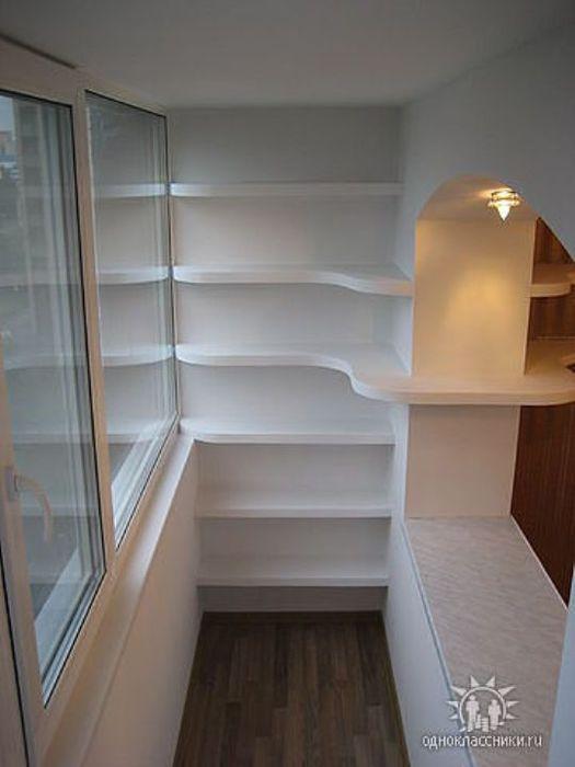 Шкафы на балкон совмещенный с кухней фото..