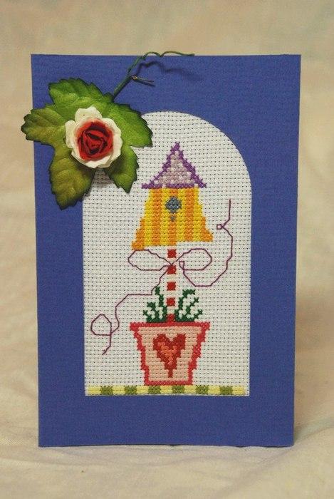 открытка домик (469x700, 71Kb)