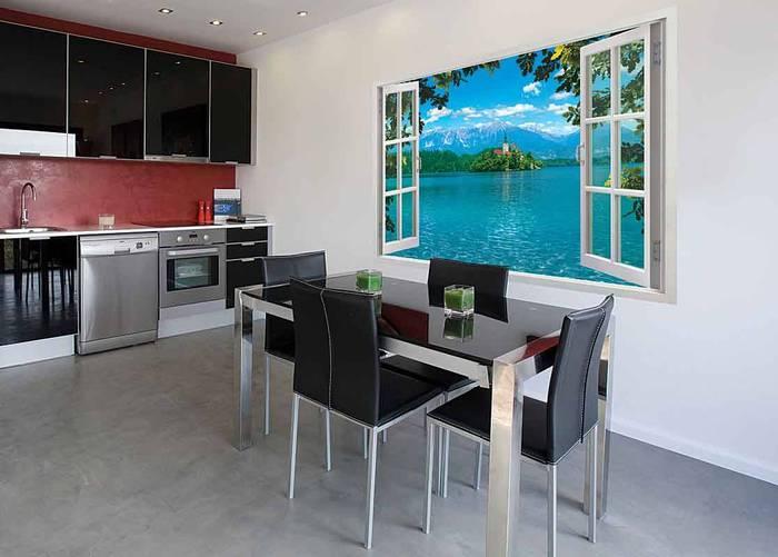 Фото обоев для стен на кухню.