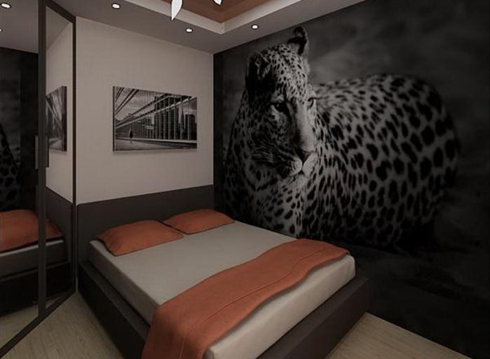 фотообои в интерьере гостиной фото