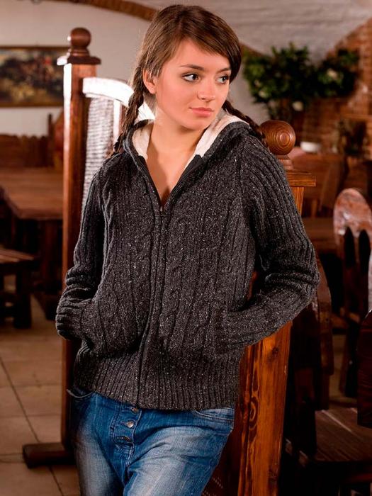Вязание спицами модные куртки