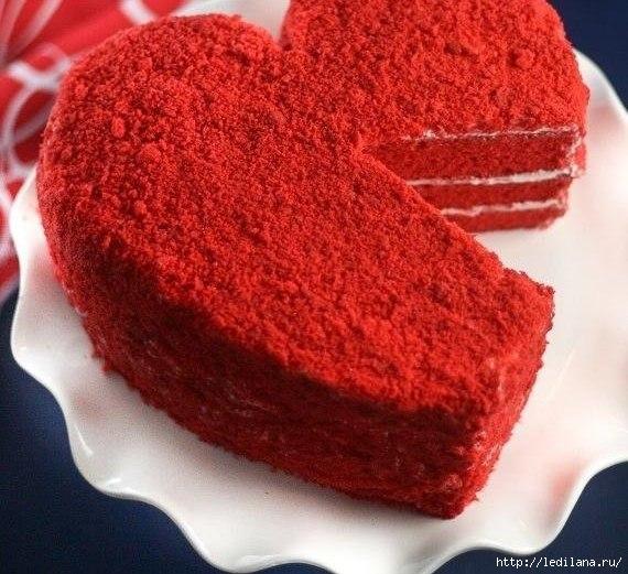 торт Сердце (570x521, 178Kb)
