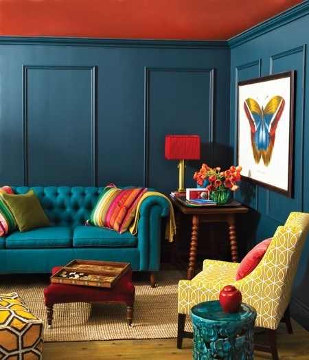 Peacock living room ideas