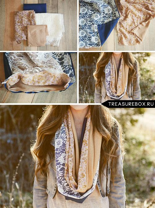 Как сшить шарфы из ткани своими руками