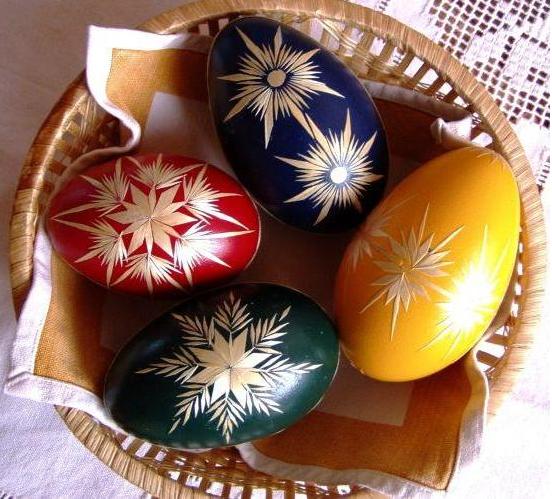 пасхальные яйца декор соломкой (1) (552x499, 681Kb)