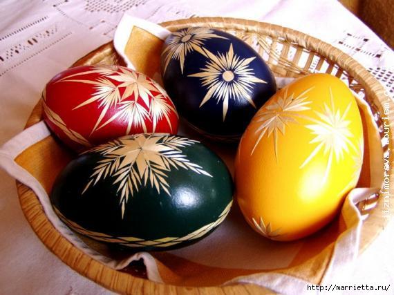 пасхальные яйца декор соломкой (18) (570x427, 139Kb)